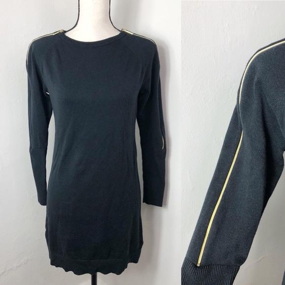 586b7588f4 MICHAEL Michael Kors Black Zipper Sleeve Dress. M 5bf5bacc12cd4aa4fa72c914